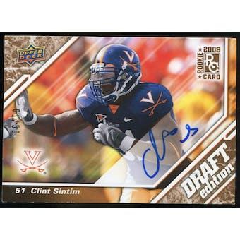 2009 Upper Deck Draft Edition Autographs Copper #145 Clint Sintim Autograph /50