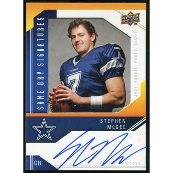 2009 Upper Deck Same Day Signatures #SDSM Stephen McGee Autograph