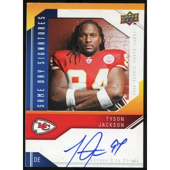 2009 Upper Deck Same Day Signatures #SDTJ Tyson Jackson Autograph