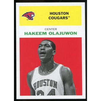 2011/12 Upper Deck Fleer Retro 1961-62 #HO1 Hakeem Olajuwon Bright Red