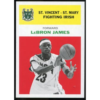 2011/12 Upper Deck Fleer Retro 1961-62 #LJ1 LeBron James Bright Red