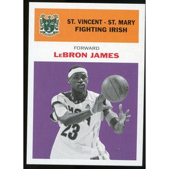 2011/12 Upper Deck Fleer Retro 1961-62 #LJ4 LeBron James Purple