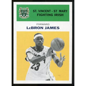 2011/12 Upper Deck Fleer Retro 1961-62 #LJ5 LeBron James Yellow