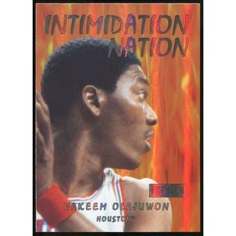 2011/12 Upper Deck Fleer Retro Intimidation Nation #5 Hakeem Olajuwon