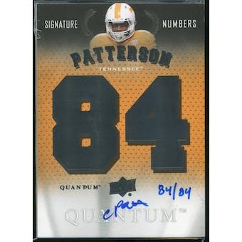2013 Upper Deck Quantum Signature Numbers #SNCP Cordarrelle Patterson Autograph /84