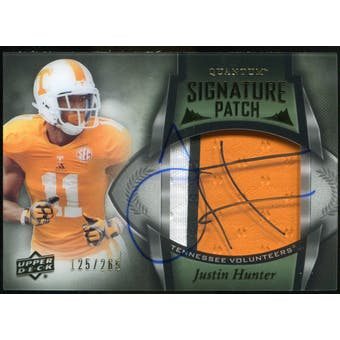2013 Upper Deck Quantum Signature Patches #149 Justin Hunter Autograph /265