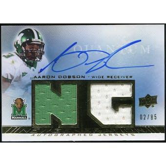 2013 Upper Deck Quantum New Generation Autograph Jerseys #NGJAD Aaron Dobson Autograph /85