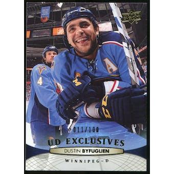 2011/12 Upper Deck Exclusives #1 Dustin Byfuglien /100