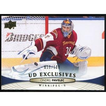 2011/12 Upper Deck Exclusives #6 Ondrej Pavelec /100