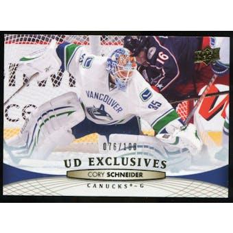 2011/12 Upper Deck Exclusives #18 Cory Schneider /100
