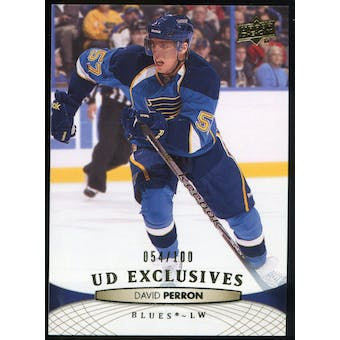 2011/12 Upper Deck Exclusives #38 David Perron /100