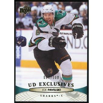 2011/12 Upper Deck Exclusives #41 Joe Pavelski /100