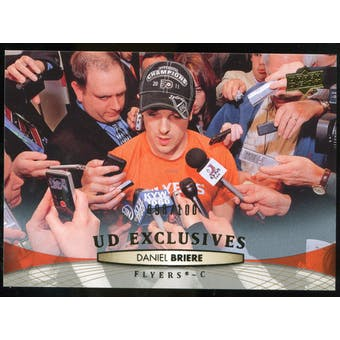 2011/12 Upper Deck Exclusives #61 Daniel Briere /100