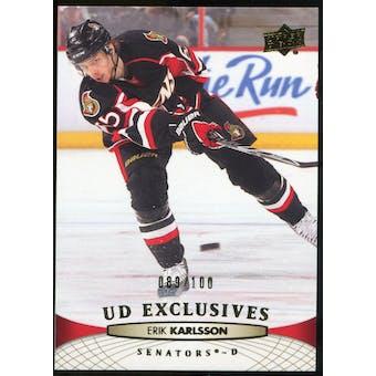 2011/12 Upper Deck Exclusives #68 Erik Karlsson /100