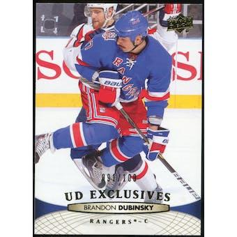 2011/12 Upper Deck Exclusives #77 Brandon Dubinsky /100
