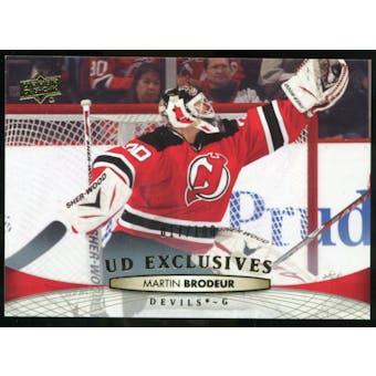 2011/12 Upper Deck Exclusives #87 Martin Brodeur /100