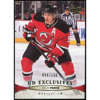 2011/12 Upper Deck Exclusives #88 Zach Parise /100