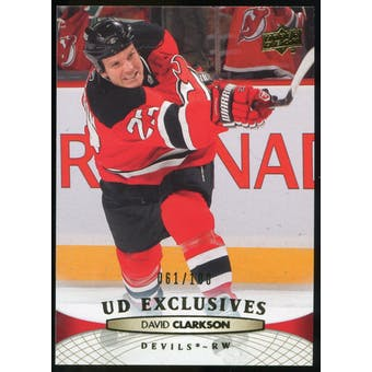 2011/12 Upper Deck Exclusives #92 David Clarkson /100