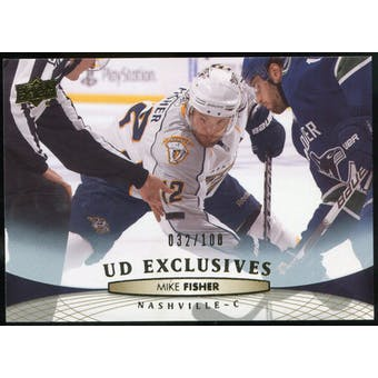 2011/12 Upper Deck Exclusives #98 Mike Fisher /100