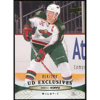2011/12 Upper Deck Exclusives #106 Mikko Koivu /100