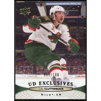 2011/12 Upper Deck Exclusives #107 Cal Clutterbuck /100