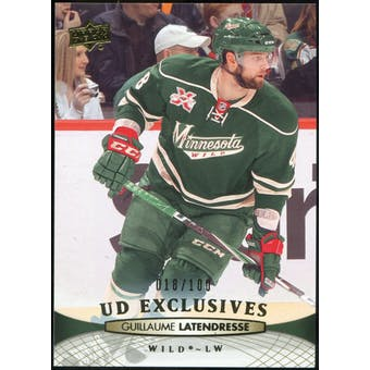2011/12 Upper Deck Exclusives #110 Guillaume Latendresse /100