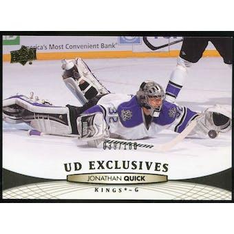 2011/12 Upper Deck Exclusives #118 Jonathan Quick /100