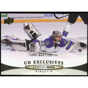 2011/12 Upper Deck Exclusives #118 Jonathan Quick /100