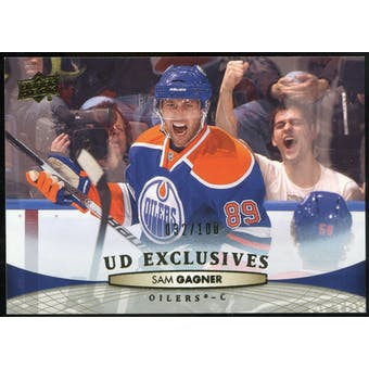 2011/12 Upper Deck Exclusives #128 Sam Gagner /100