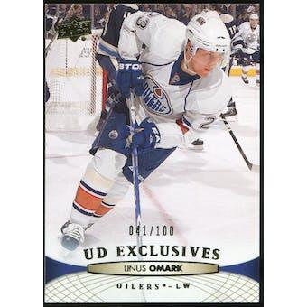 2011/12 Upper Deck Exclusives #130 Linus Omark /100
