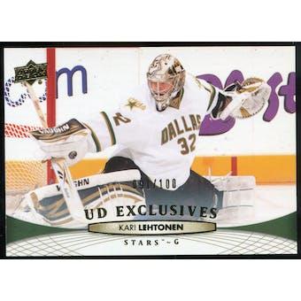 2011/12 Upper Deck Exclusives #141 Kari Lehtonen /100