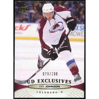 2011/12 Upper Deck Exclusives #153 Erik Johnson /100