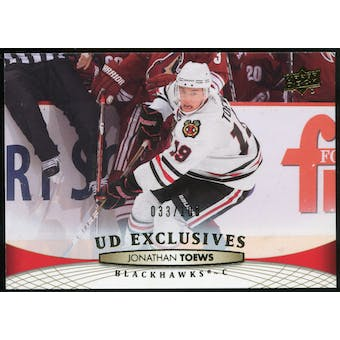 2011/12 Upper Deck Exclusives #160 Jonathan Toews 33/100