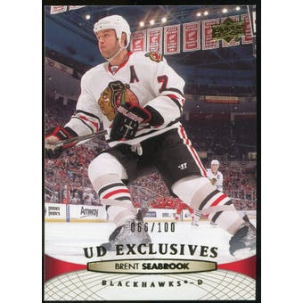 2011/12 Upper Deck Exclusives #163 Brent Seabrook /100