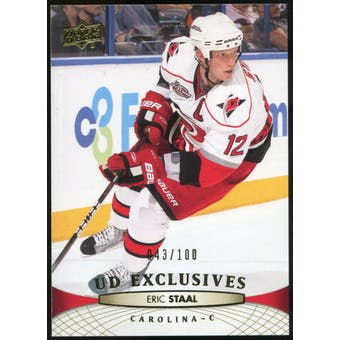 2011/12 Upper Deck Exclusives #169 Eric Staal /100
