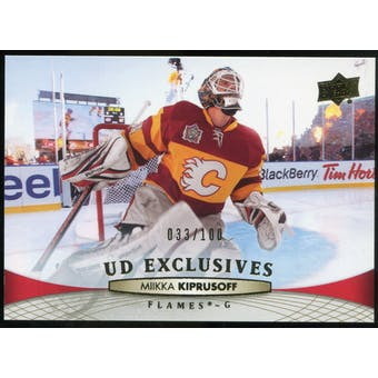2011/12 Upper Deck Exclusives #174 Miikka Kiprusoff /100