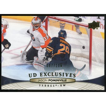 2011/12 Upper Deck Exclusives #186 Jason Pominville /100