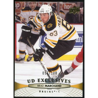 2011/12 Upper Deck Exclusives #189 Brad Marchand /100