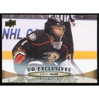 2011/12 Upper Deck Exclusives #196 Jonas Hiller /100