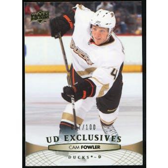 2011/12 Upper Deck Exclusives #198 Cam Fowler /100