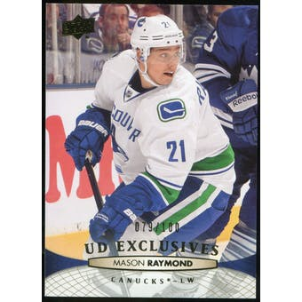 2011/12 Upper Deck Exclusives #268 Mason Raymond /100