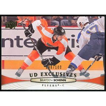 2011/12 Upper Deck Exclusives #315 Brayden Schenn /100