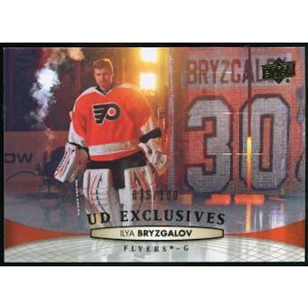 2011/12 Upper Deck Exclusives #321 Ilya Bryzgalov /100