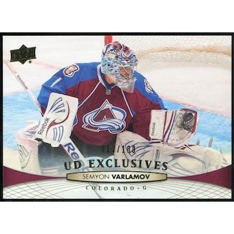 2011/12 Upper Deck Exclusives #408 Semyon Varlamov /100