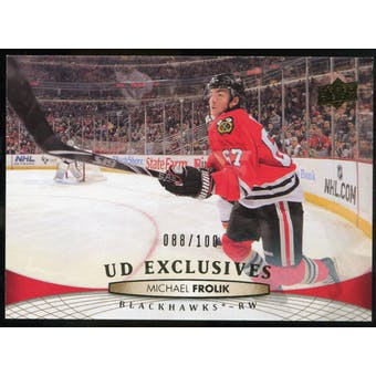 2011/12 Upper Deck Exclusives #412 Michael Frolik /100