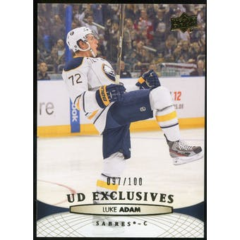 2011/12 Upper Deck Exclusives #431 Luke Adam /100