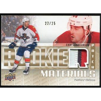 2011/12 Upper Deck Rookie Materials Patches #RMEG Erik Gudbranson /25