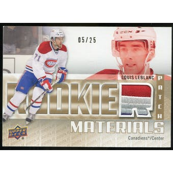 2011/12 Upper Deck Rookie Materials Patches #RMLL Louis Leblanc /25
