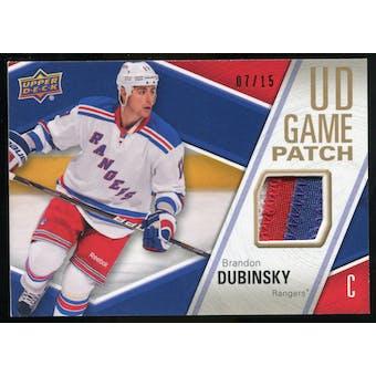 2011/12 Upper Deck Game Jerseys Patches #GJ2BD Brandon Dubinsky /15
