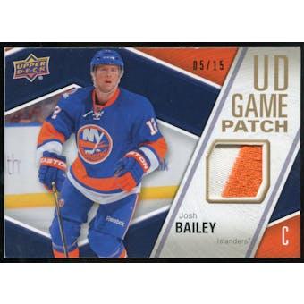 2011/12 Upper Deck Game Jerseys Patches #GJ2JB Josh Bailey /15